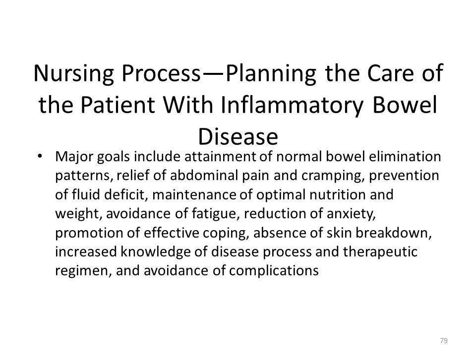 Nursing Process—Planning the Care of the Patient With Inflammatory Bowel Disease