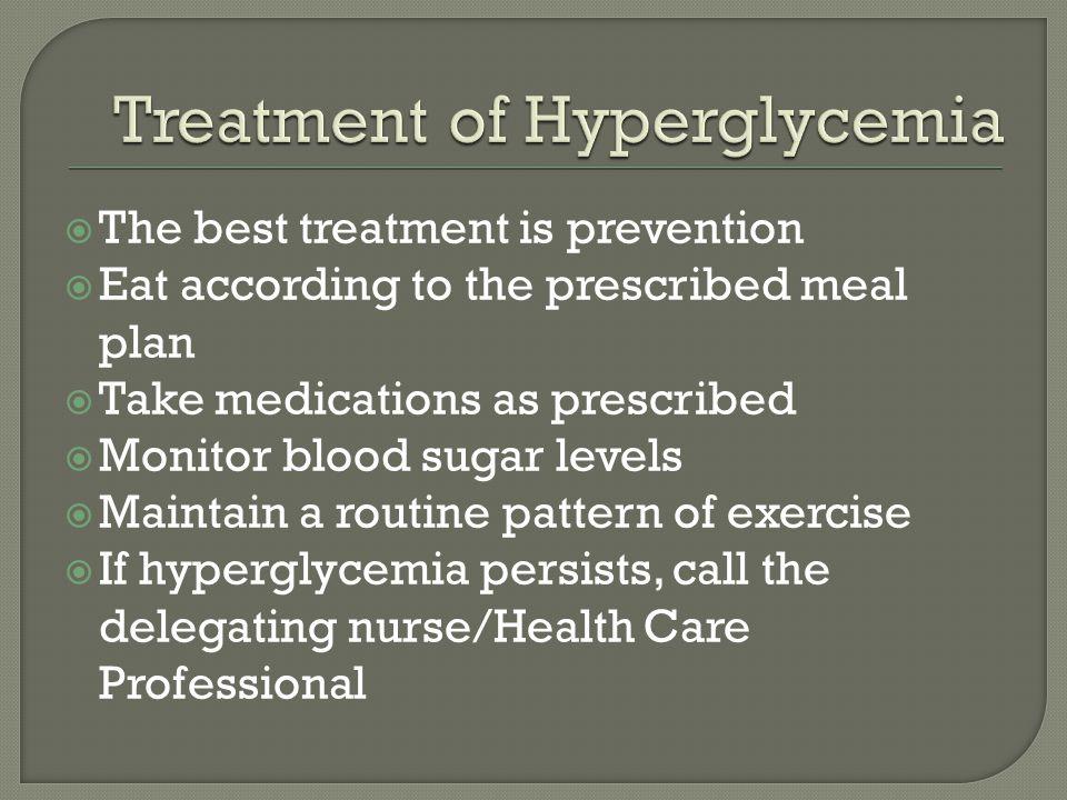 Treatment of Hyperglycemia