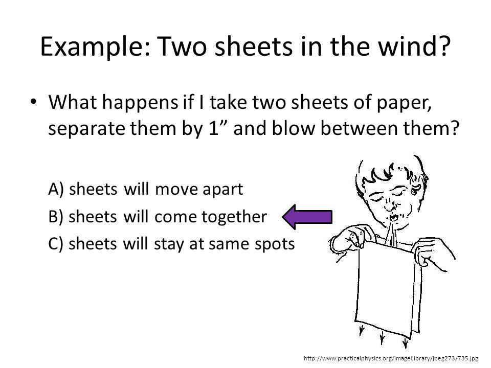 Example: Two sheets in the wind