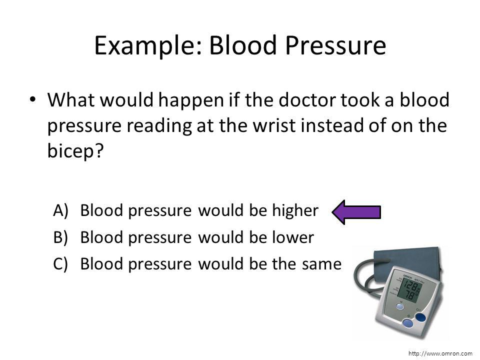 Example: Blood Pressure