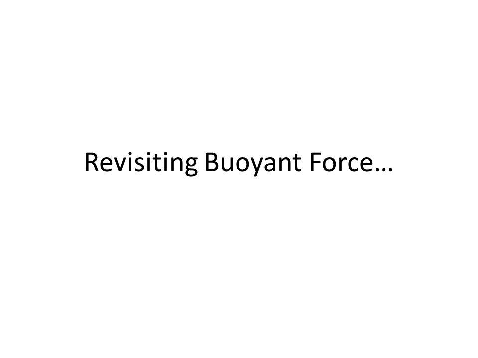 Revisiting Buoyant Force…