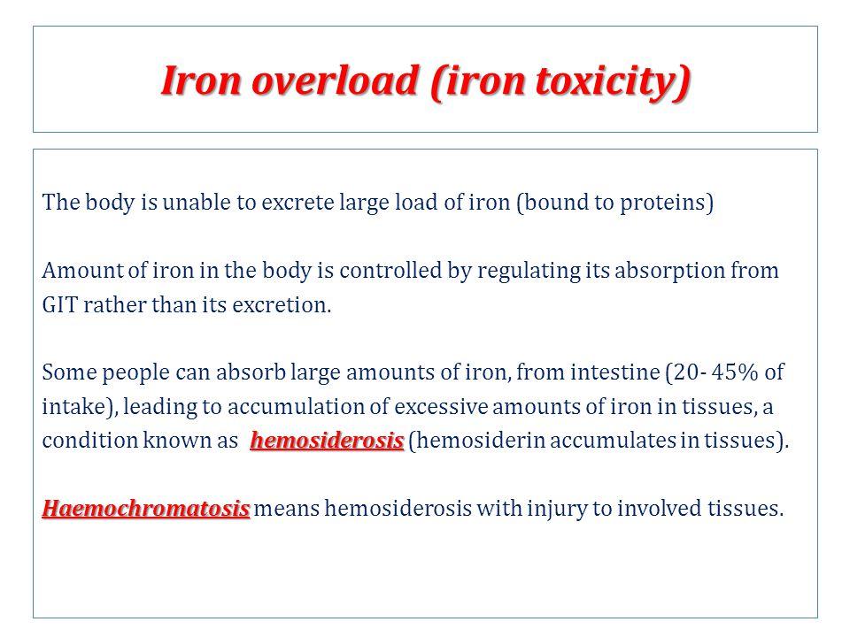 Iron overload (iron toxicity)