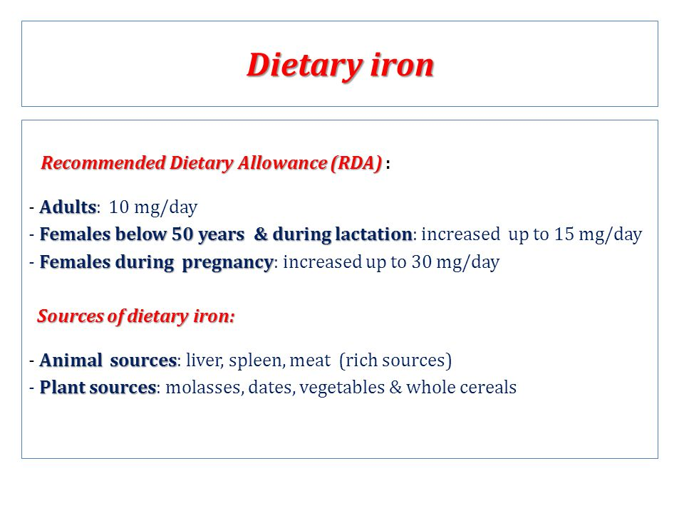 dietary sources of iron pdf