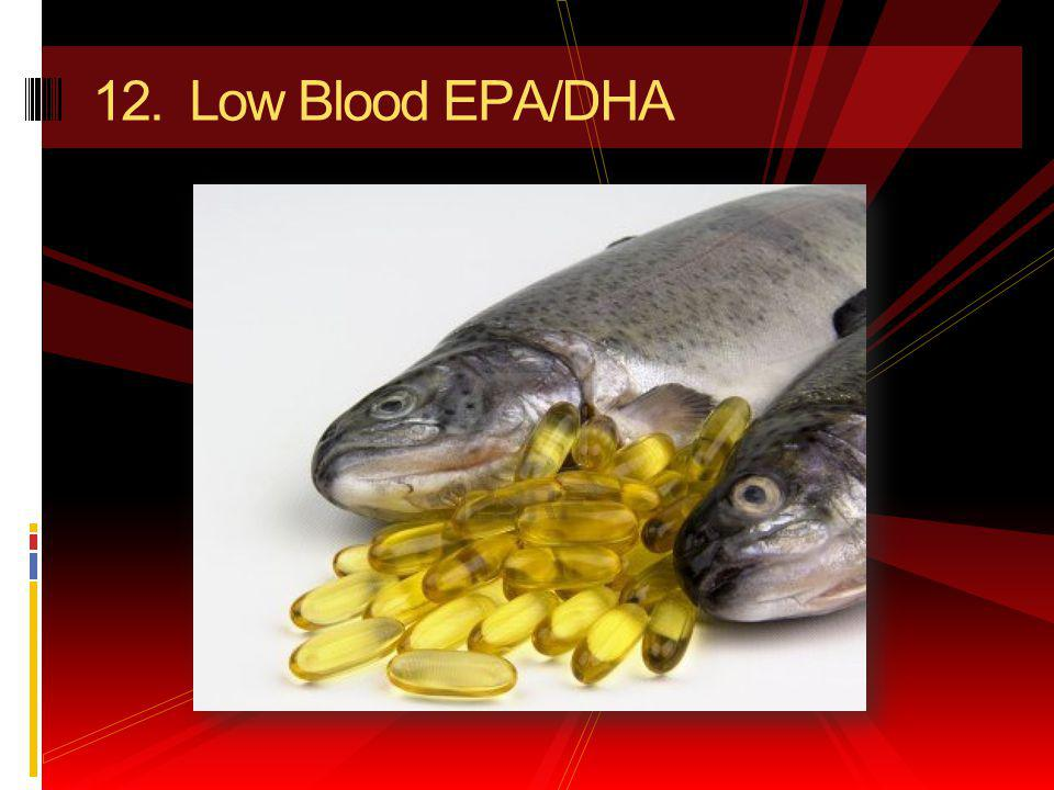 12. Low Blood EPA/DHA