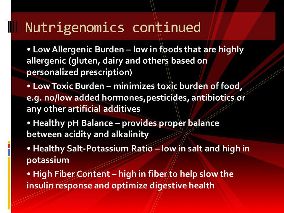 Nutrigenomics continued