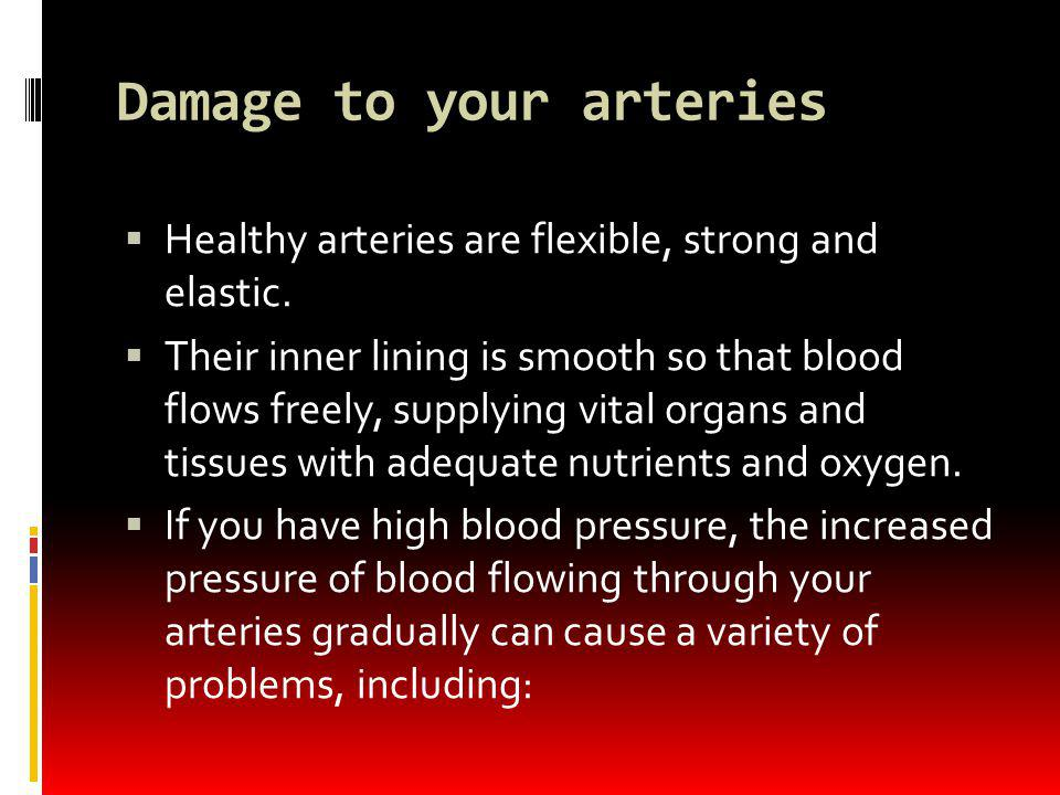 Damage to your arteries