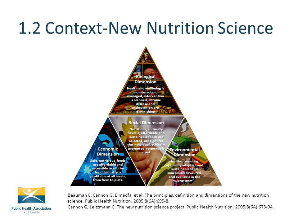 1.2 Context-New Nutrition Science