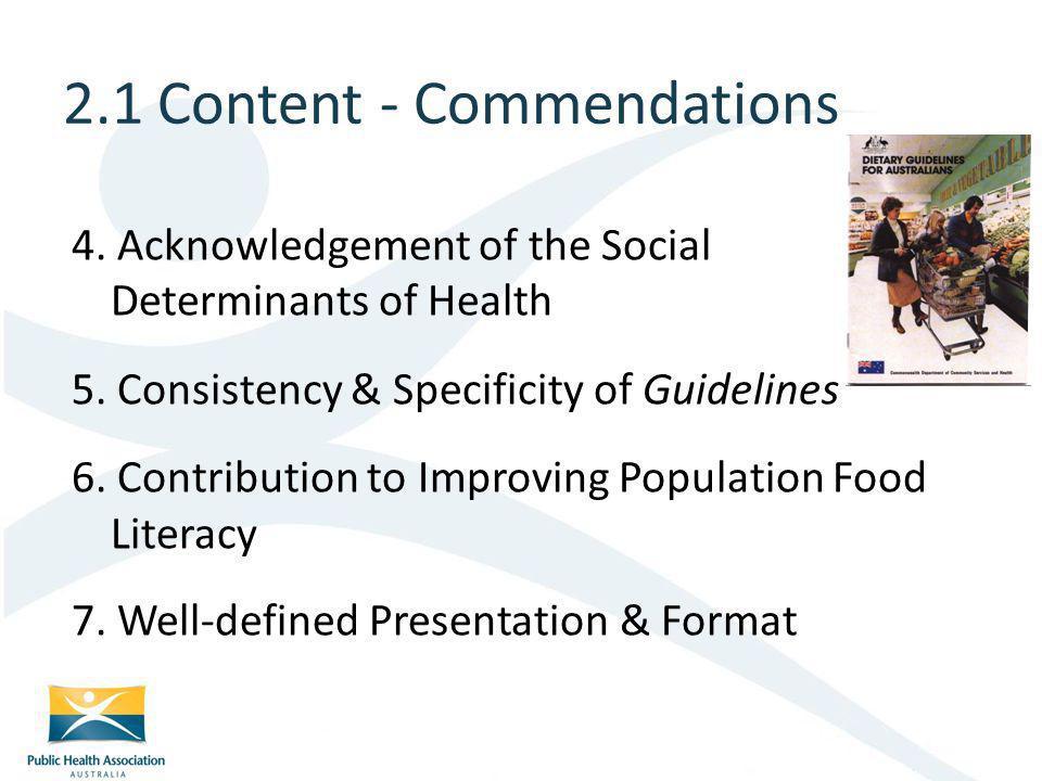 2.1 Content - Commendations