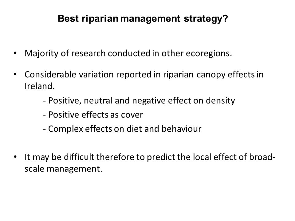 Best riparian management strategy