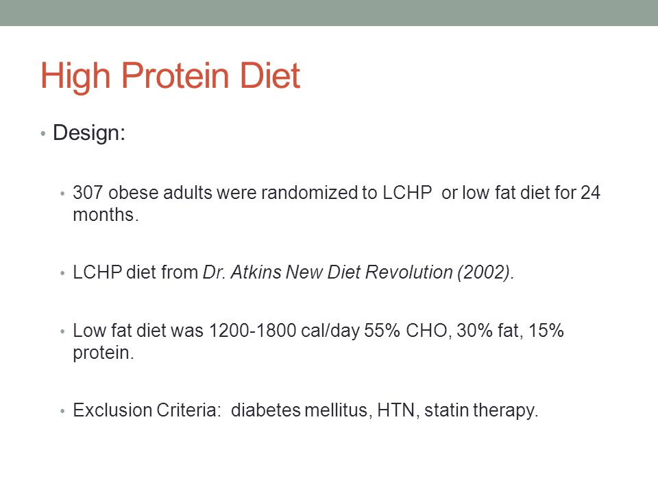 High Protein Diet Design: