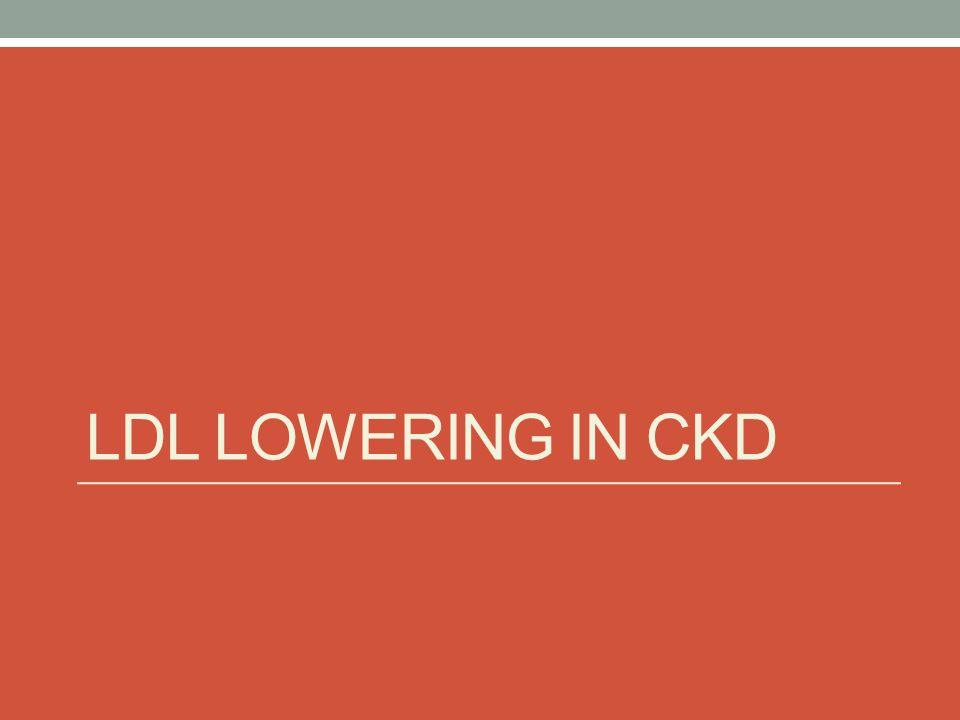 LDL lowering in CKD