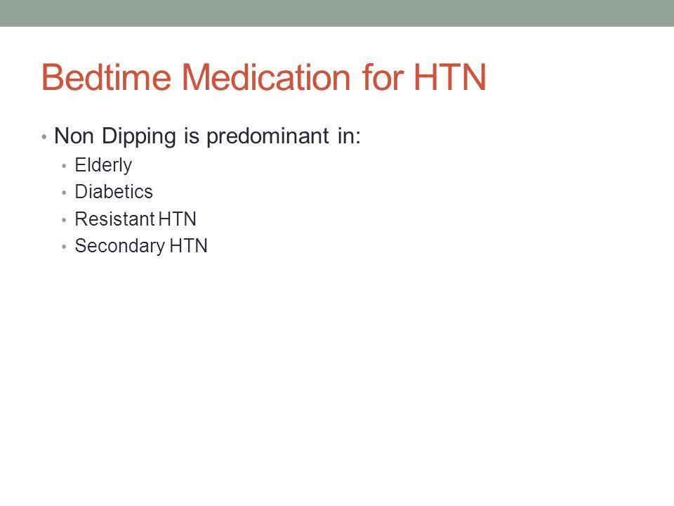 Bedtime Medication for HTN