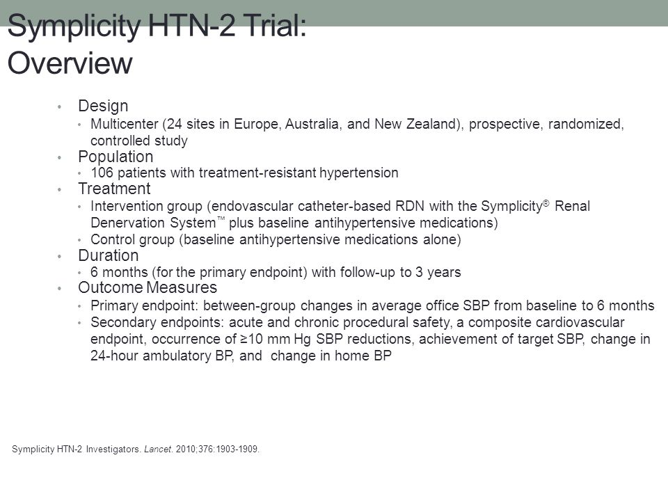 Symplicity HTN-2 Trial: Overview