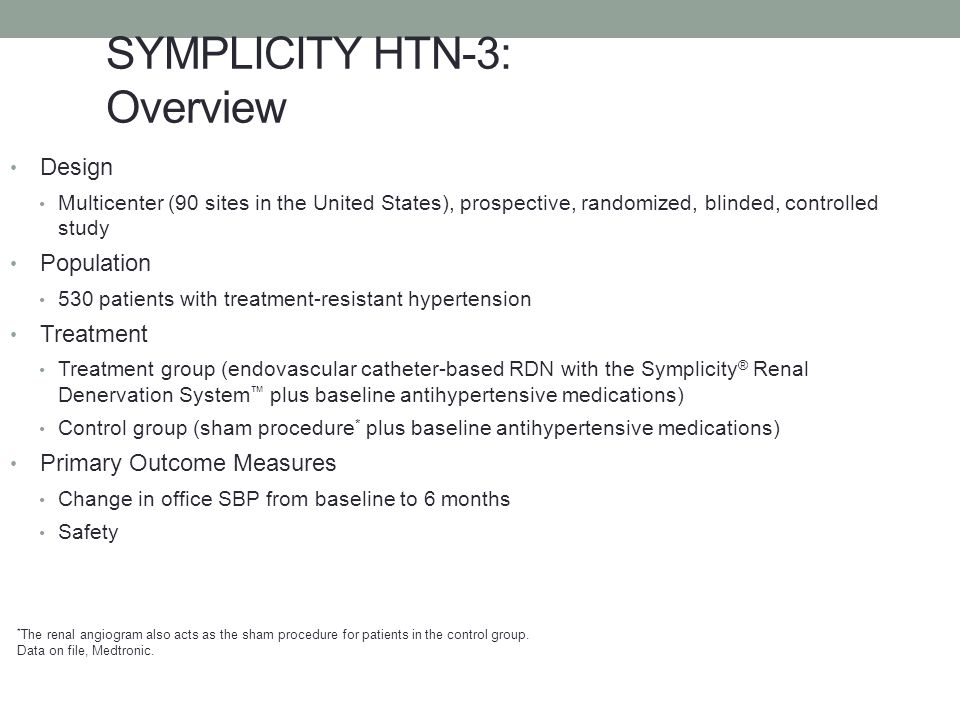 SYMPLICITY HTN-3: Overview
