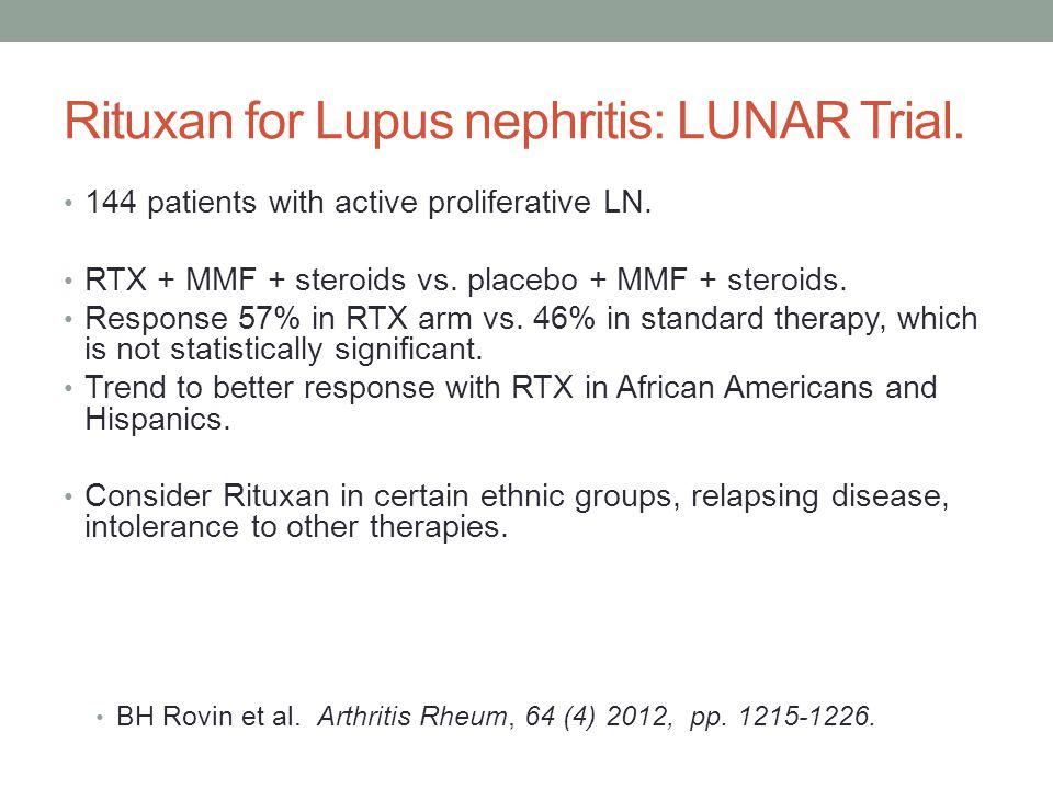 Rituxan for Lupus nephritis: LUNAR Trial.