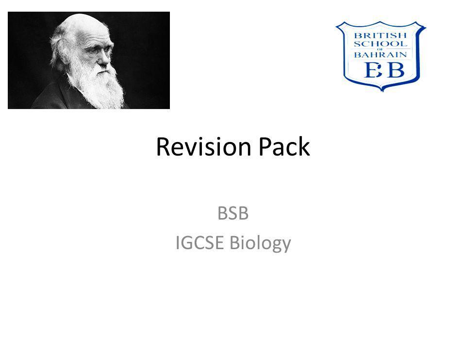 Revision Pack BSB IGCSE Biology