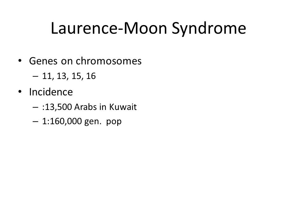 Laurence-Moon Syndrome