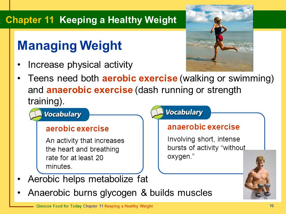 Managing Weight Increase physical activity