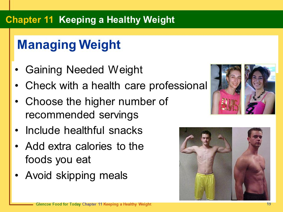 Managing Weight Gaining Needed Weight