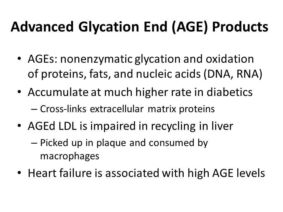 Advanced Glycation End (AGE) Products