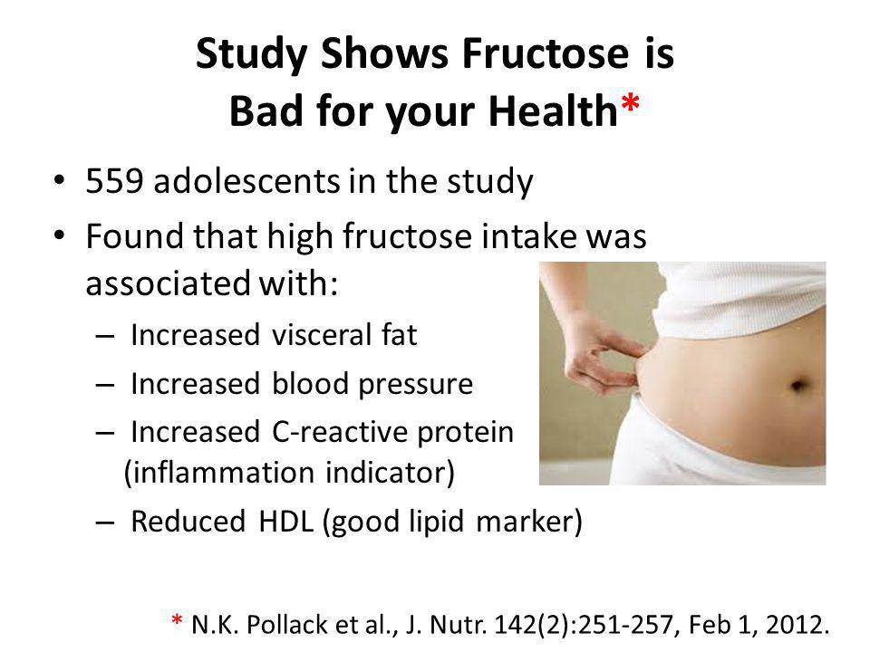 Study Shows Fructose is Bad for your Health*