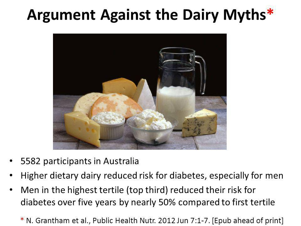 Argument Against the Dairy Myths*