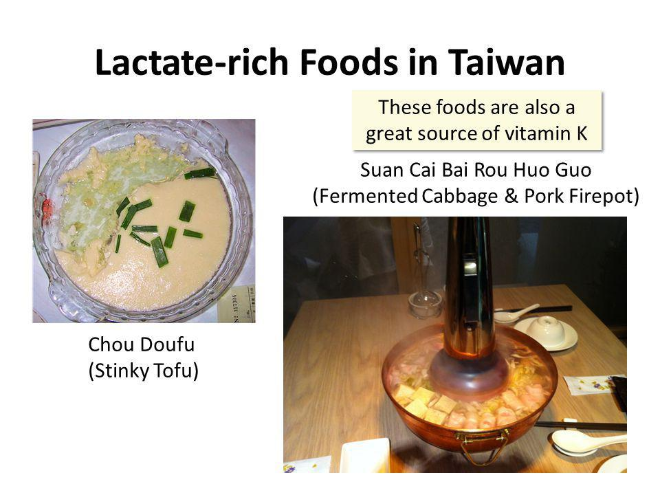 Lactate-rich Foods in Taiwan
