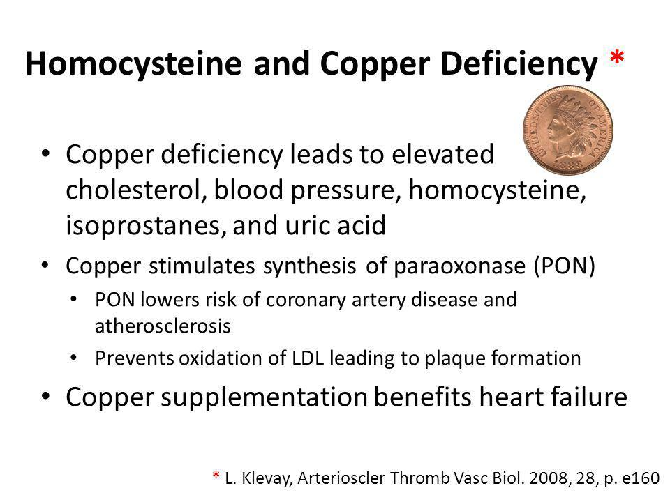 Homocysteine and Copper Deficiency *