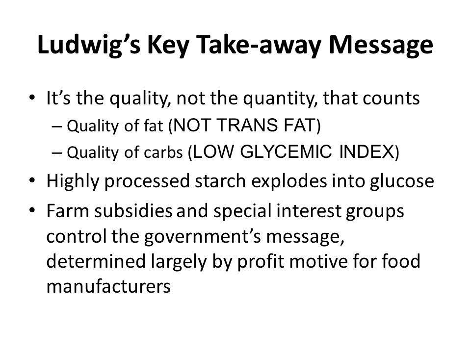Ludwig's Key Take-away Message