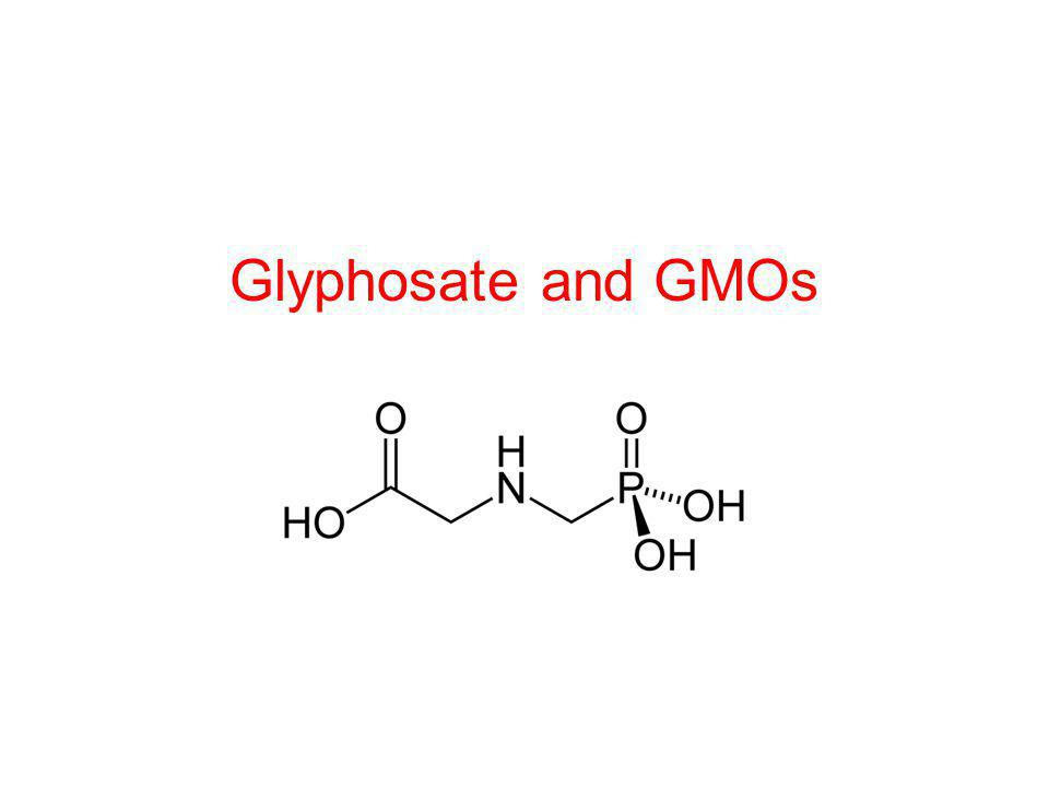 Glyphosate and GMOs