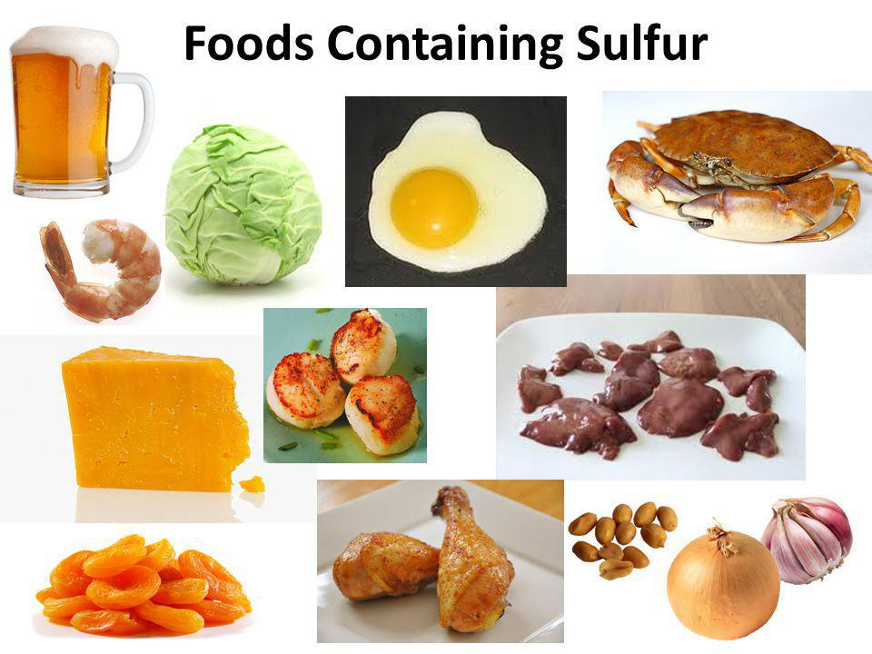 Foods Containing Sulfur