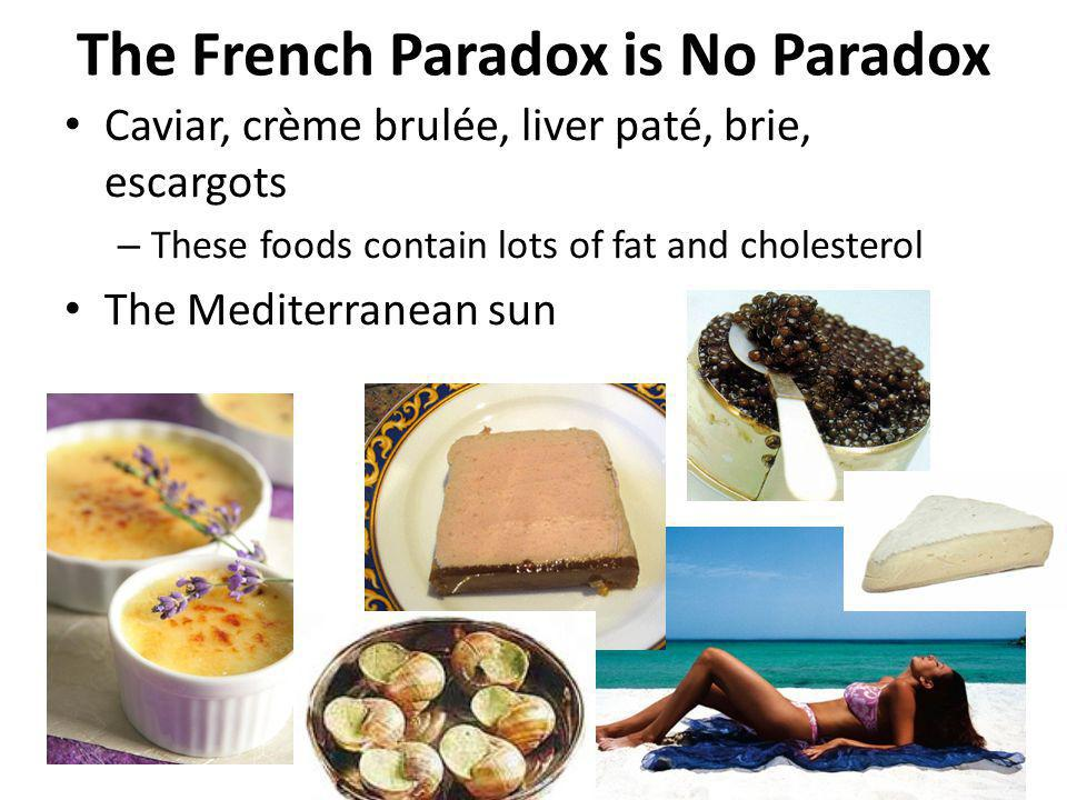 The French Paradox is No Paradox