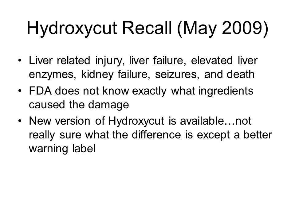Hydroxycut Recall (May 2009)