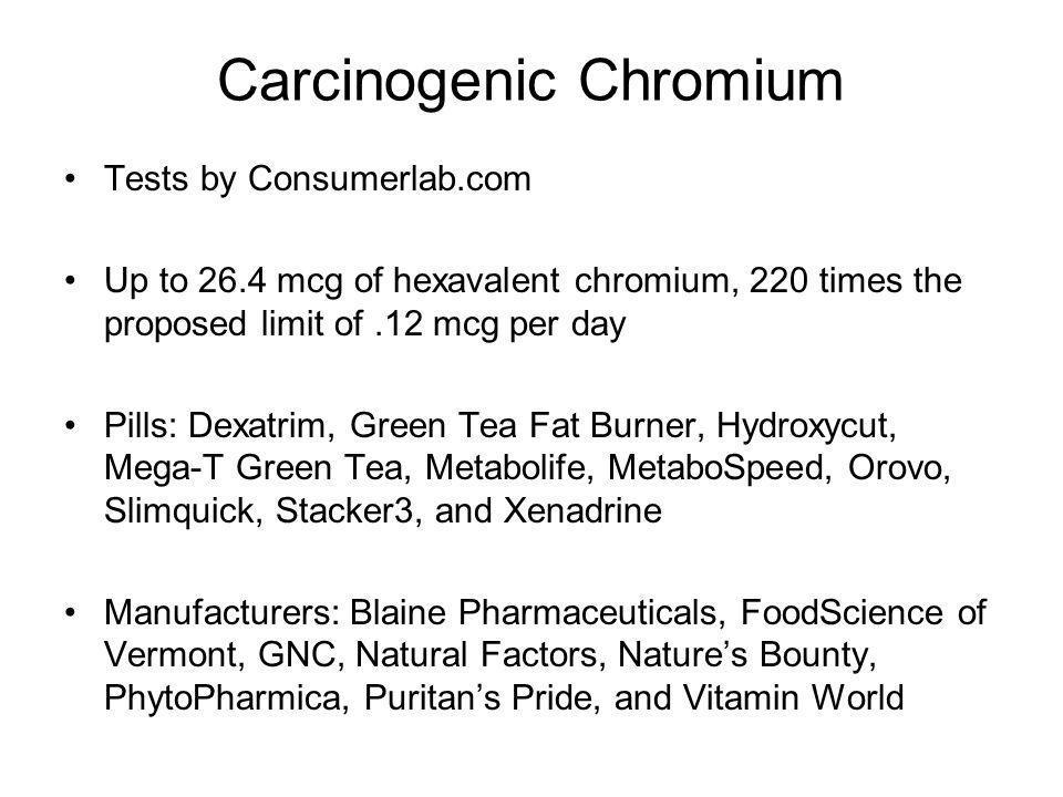 Carcinogenic Chromium