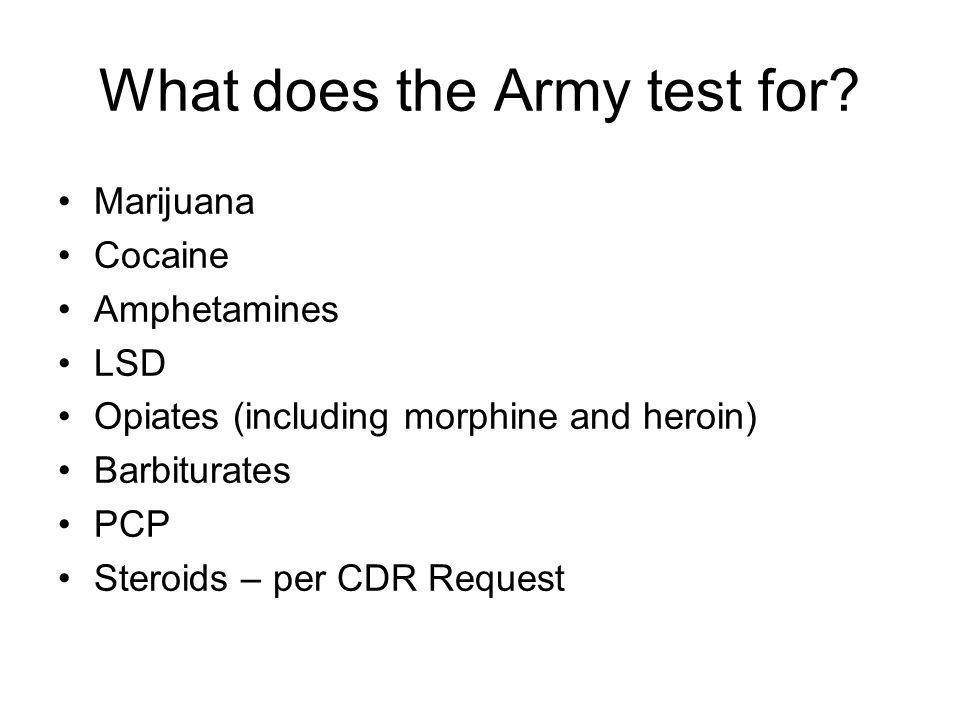 What does the Army test for