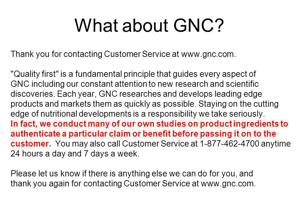 What about GNC