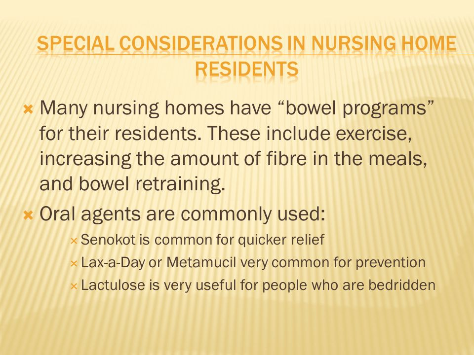 Special Considerations in nursing home residents