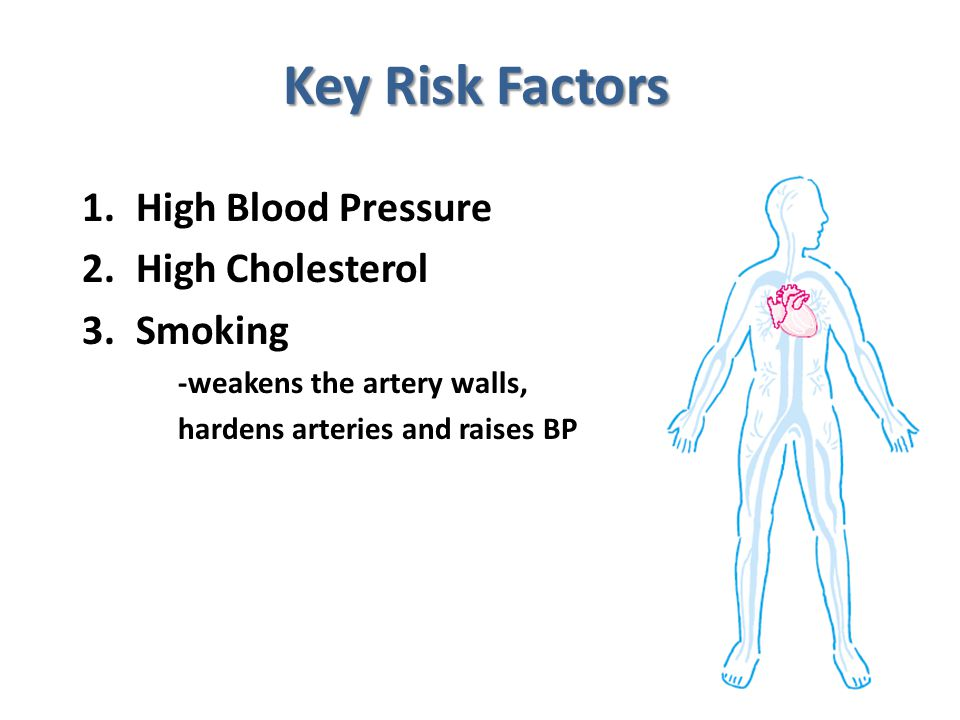 Key Risk Factors High Blood Pressure High Cholesterol Smoking