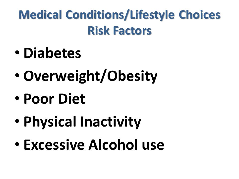 Medical Conditions/Lifestyle Choices Risk Factors
