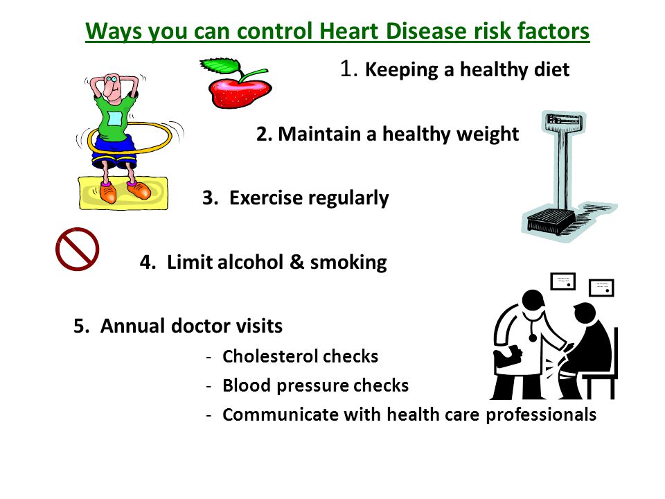 Ways you can control Heart Disease risk factors