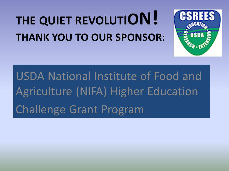 The Quiet Revolution! Thank you to our sponsor: