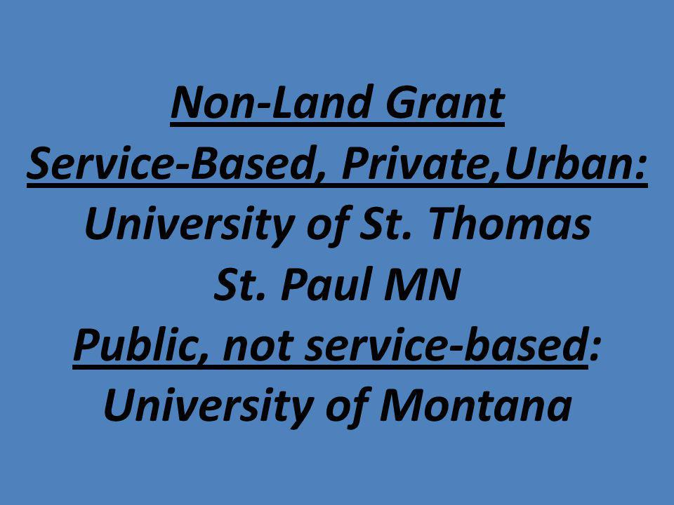 Non-Land Grant Service-Based, Private,Urban: University of St