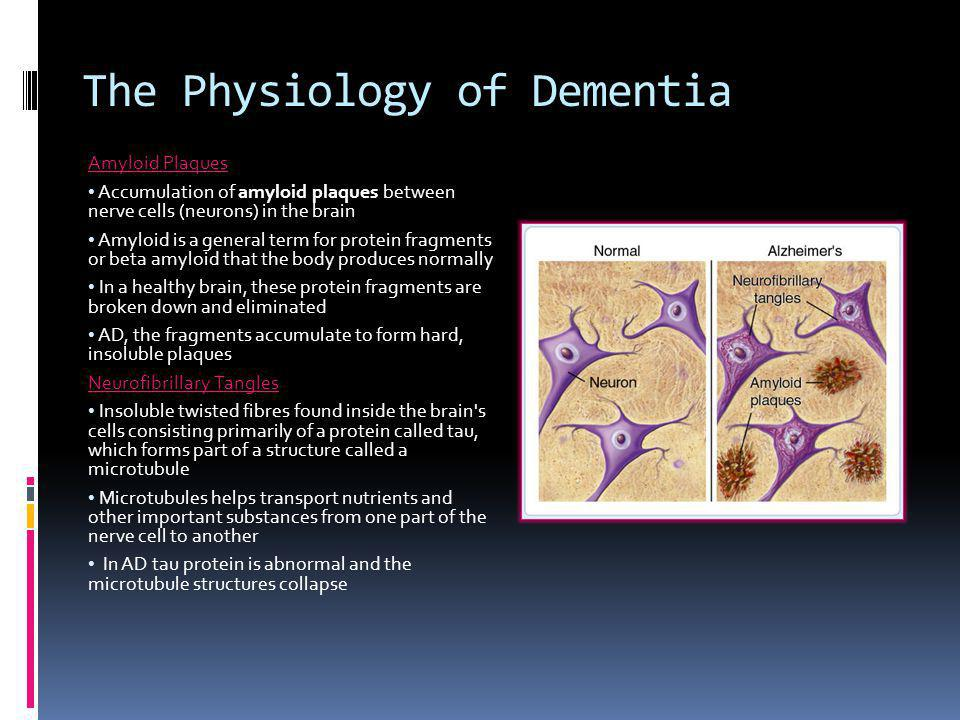 The Physiology of Dementia