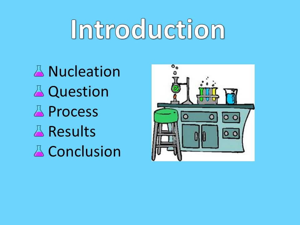 Introduction Nucleation Question Process Results Conclusion