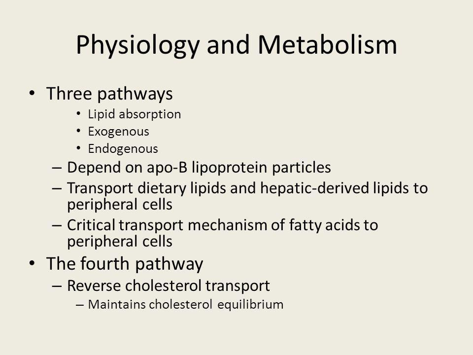 Physiology and Metabolism