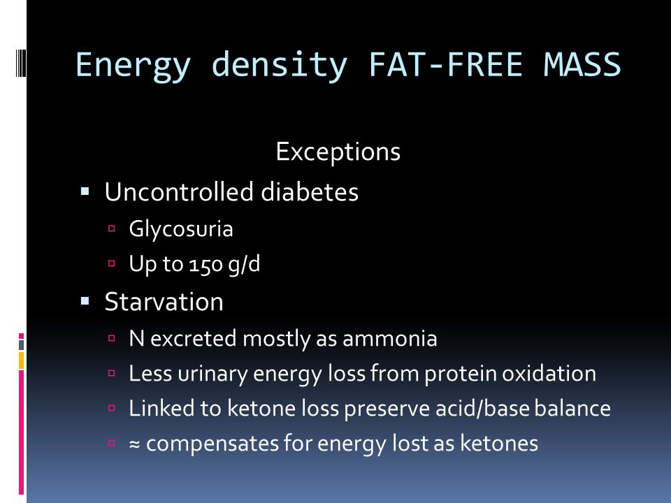 Energy density FAT-FREE MASS