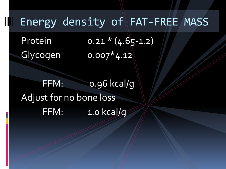 Energy density of FAT-FREE MASS