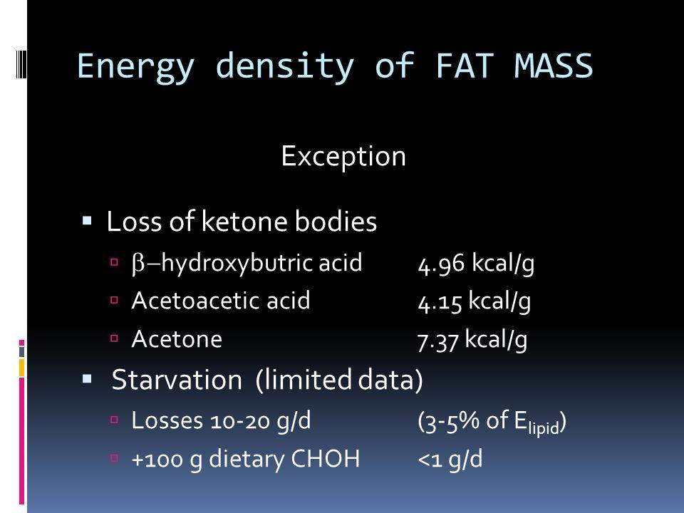 Energy density of FAT MASS