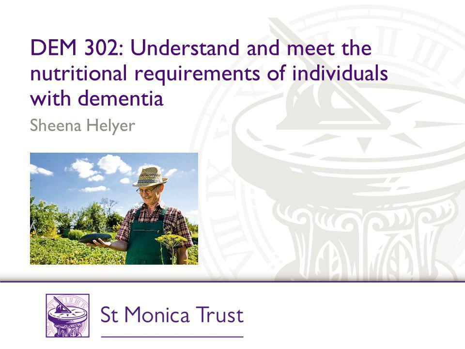 nutrition and dementia