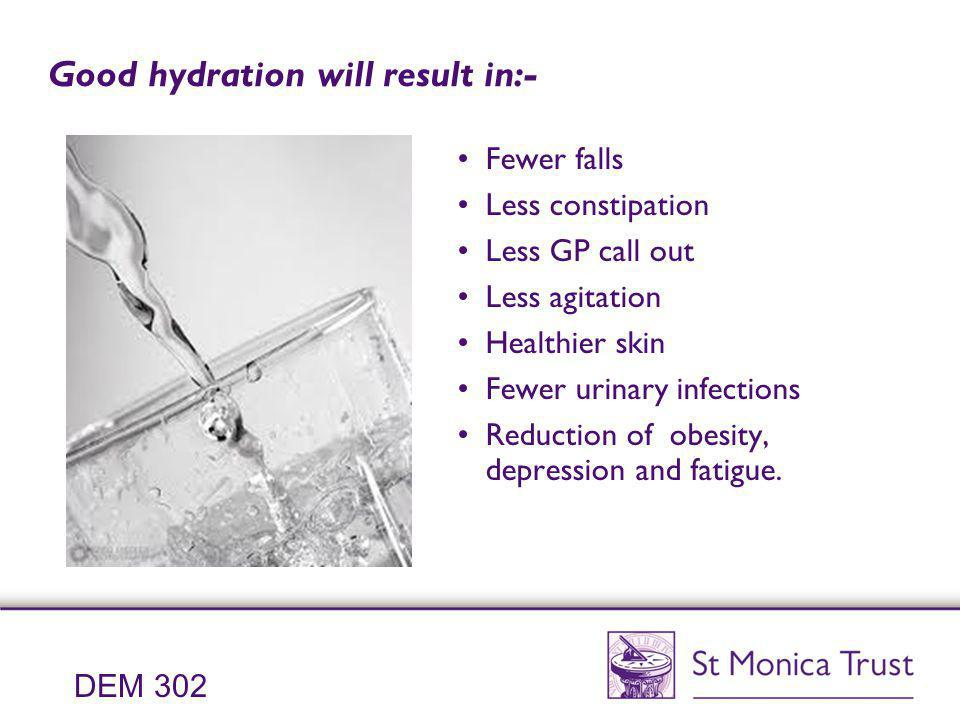 Good hydration will result in:-